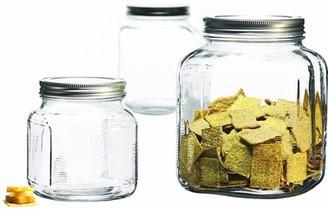 Anchor Hocking 3-Piece Glass Cracker Jar Canister Set - 95705