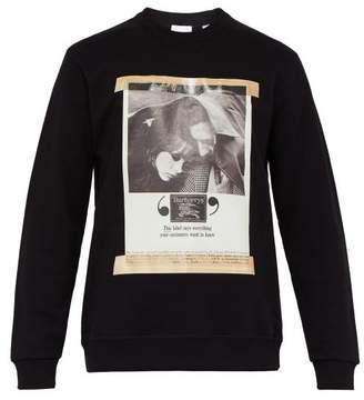 Burberry Archive Poster Print Cotton Sweatshirt - Mens - Black
