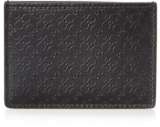 Salvatore Ferragamo Mini Gancini Embossed Card Case