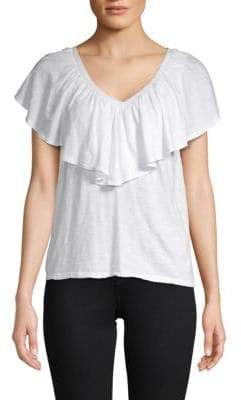 Velvet by Graham & Spencer Ruffle Front T-Shirt