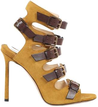 Jimmy Choo Yellow Suede Sandals