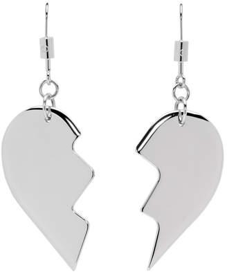 MM6 MAISON MARGIELA Silver Friendship Heart Earrings