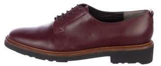 Robert Clergerie Leather Round-Toe Oxfords