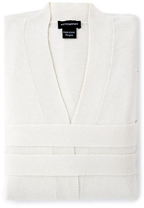 One Kings Lane Cashmere-Blend Robe - Crà ̈me Fraiche