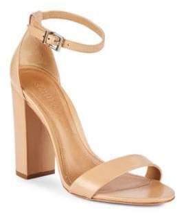 Schutz Enida Leather Ankle-Strap Sandals