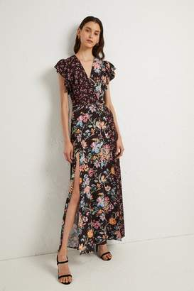 French Connenction Bridget Crepe Mix Print Dress
