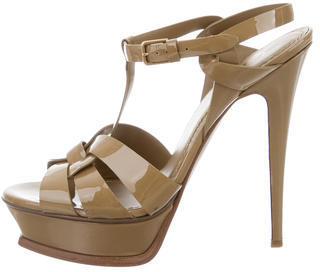 Saint LaurentYves Saint Laurent Patent Tribute Sandals