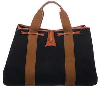 Sutor Mantellassi Leather-Trimmed Canvas Tote