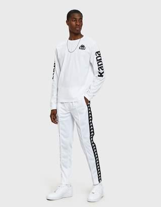 Kappa Banda Astoria Slim Pant in White/Black
