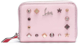 Christian Louboutin Panettone pink leather coin purse