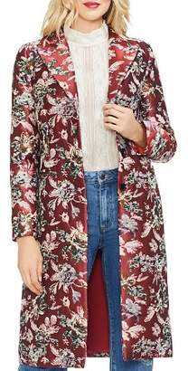 Vince Camuto Floral-Tapestry Topper Coat