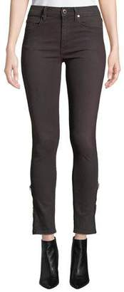 Hudson Barbara High-Rise Ankle Skinny Jeans with Zipper Cuffs