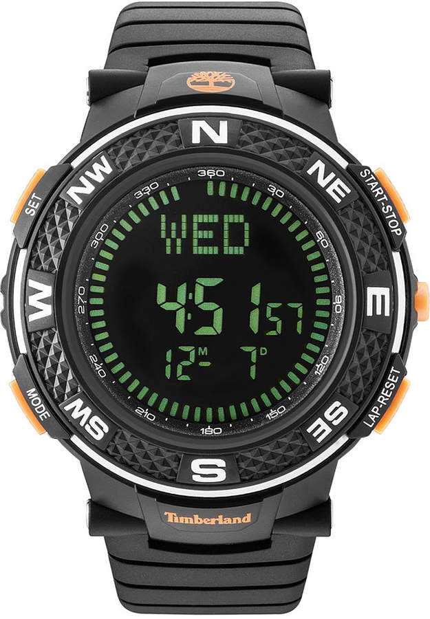 TimberlandTimberland Men's Mendon Black Polyurethane Strap Watch 52mm TBL15027XPB02PA