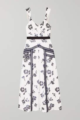 Self-Portrait Sequined Crepe Midi Dress - Ivory