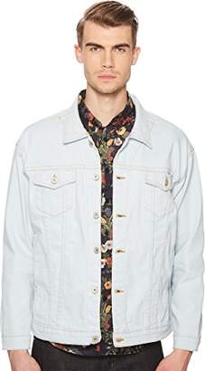 Naked & Famous Denim Men's Oversized Jacket-Powder Blue Power Stretch
