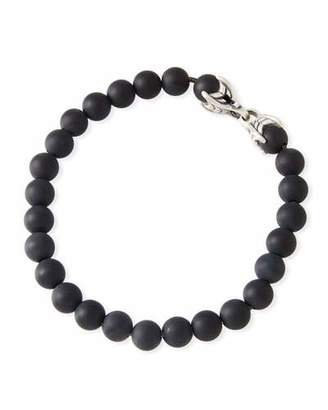 David Yurman Men's Spiritual Beads Bracelet w/ Black Onyx