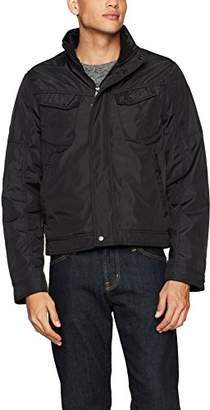 William Rast Men's Micro Tech Bomber Jacket