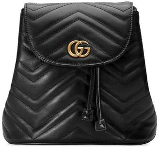 Gucci black GG Marmont matelassé backpack