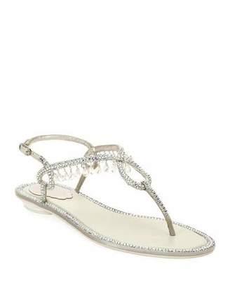 54b047468f4c Rene Caovilla Flat Thong Women s Sandals - ShopStyle