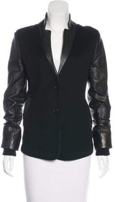 Marc by Marc Jacobs Wool Leather-Paneled Jacket