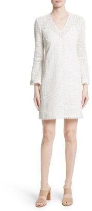 Women's Derek Lam 10 Crosby Bell Sleeve Crochet Shift Dress $425 thestylecure.com
