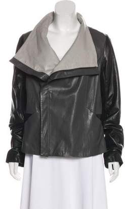 Vince Colorblock Leather Jacket