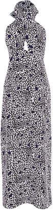 Karen Millen Leopard Halterneck Maxi Dress