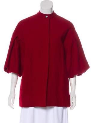 Lanvin Wool-Blend Short Coat