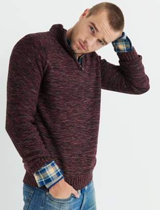 Lucky Brand 1/2 ZIP CABLE MOCK NECK