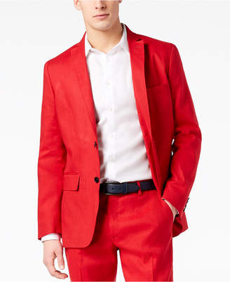 INC International Concepts I.n.c. Men's Slim-Fit Stretch Linen Blazer, Created for Macy's