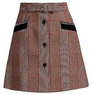 Miu Miu Women's Prince of Wales Plaid Mini Skirt