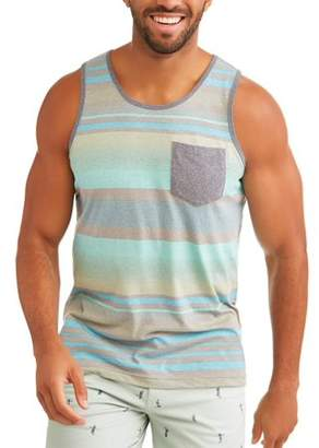 George Big Men's Stripe Tank Top With Pocket