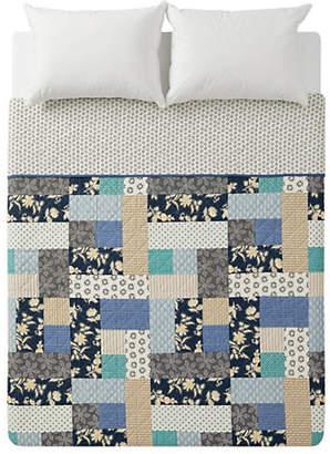 Martha Stewart Contrast Patch Cotton Quilt