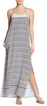THML Patterned Side Slit Maxi Dress