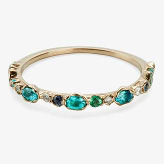 Kataoka Paraiba Tourmaline Band Ring Emerald, Sapphire, Diamond, Gold