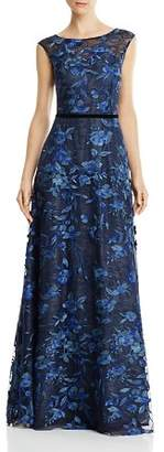 Aidan Mattox Floral Lace Gown