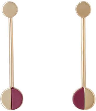 Basque Rhodium Spliced Red Earrings