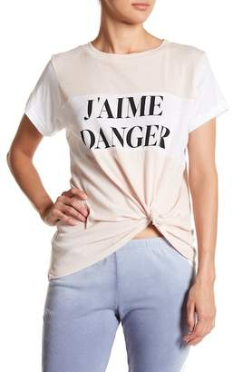 Wildfox Couture J'aime Danger Colorblock Tee