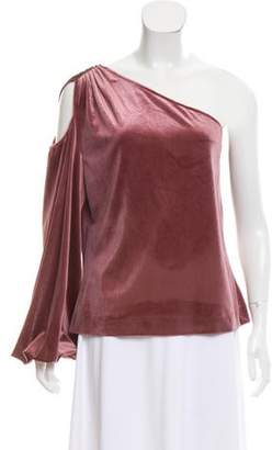 Rebecca Minkoff One-Shoulder Velvet Top