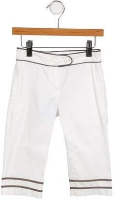 Tartine et Chocolat Girls' Wide-Leg Mid-Rise Pants