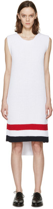 Thom Browne White Knit Sweater Dress $1,100 thestylecure.com