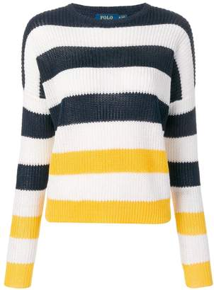 Polo Ralph Lauren ribbed knitted striped jumper