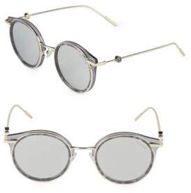 Moncler 51MM Round Sunglasses