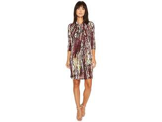 Karen Kane 3/4 Sleeve Cascade Wrap Dress Women's Dress