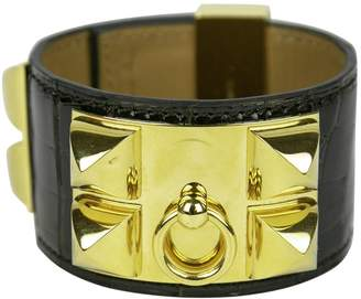 Hermes Collier de chien Brown Crocodile Bracelets