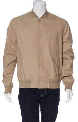 Louis Vuitton Lambskin Embroidered Bomber Jacket