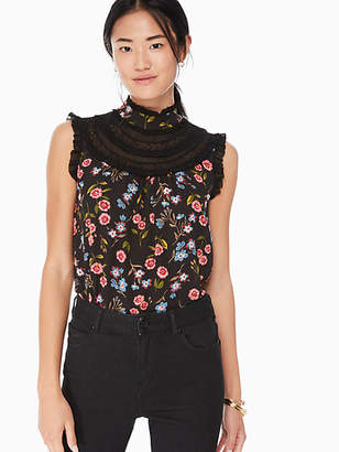 Kate Spade Meadow lace trim top
