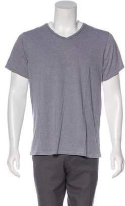 Save Khaki Woven V-Neck T-Shirt