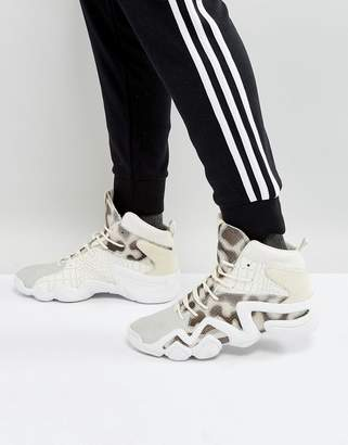 adidas Crazy 8 Primeknit Sneakers In White By4367