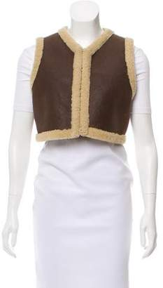 Ralph Lauren Cropped Shearling Vest
